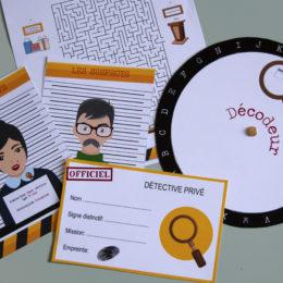 Box Anniversaire Détective - Les Accessoires