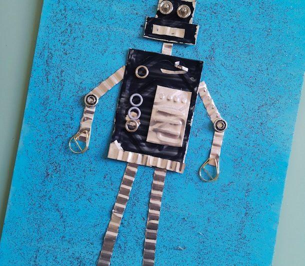 DIY Enfant : Robot recyclé